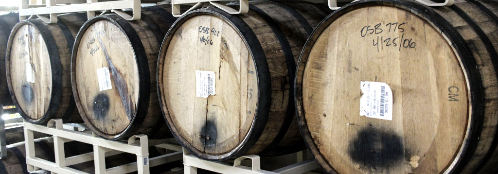 Beautiful wood barrels at craft beer tours
